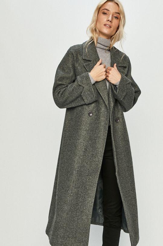 szary Answear Lab - Płaszcz z domieszką wełny Damski