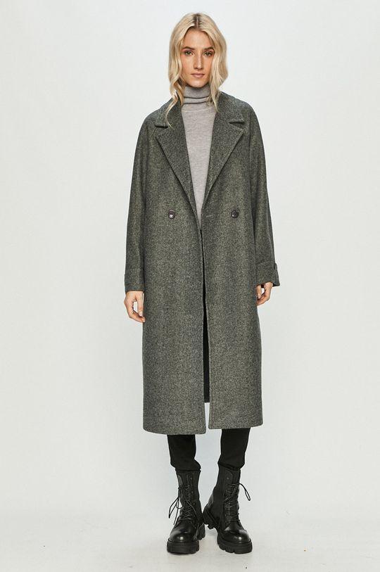 Answear Lab - Kabát s vlněnou směsí s vlněnou směsí s vlněnou směsí s vlněnou směsí šedá