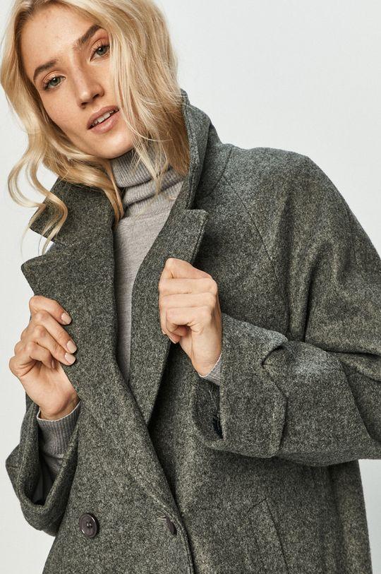šedá Answear Lab - Kabát s vlněnou směsí s vlněnou směsí s vlněnou směsí s vlněnou směsí
