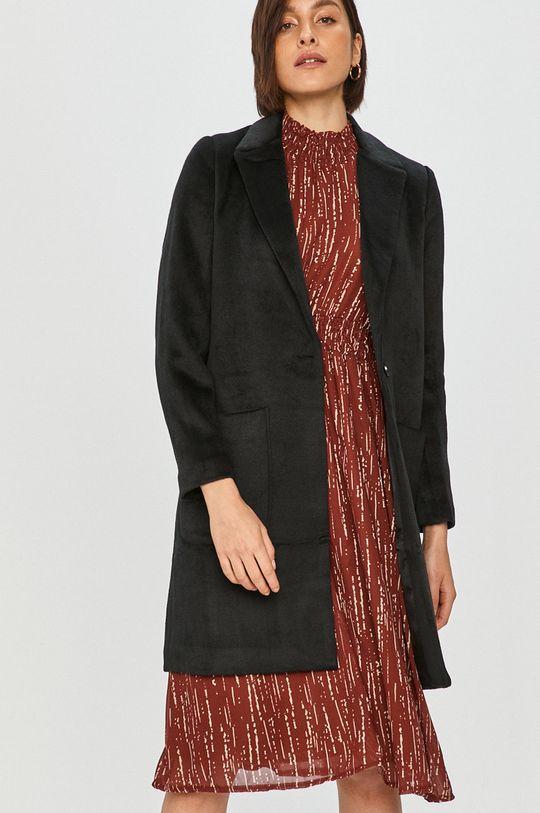 černá Answear Lab – Kabát s vlněnou směsí Dámský