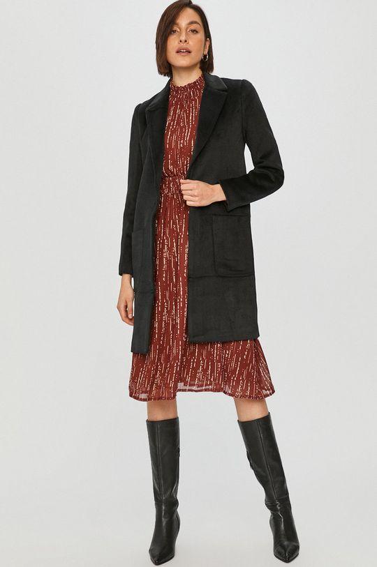 Answear Lab – Kabát s vlněnou směsí černá