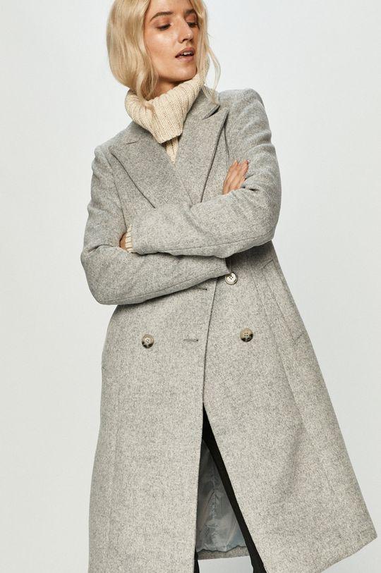 šedá Answear Lab - Kabát s vlněnou směsí s vlněnou směsí s vlněnou směsí s vlněnou směsí Dámský