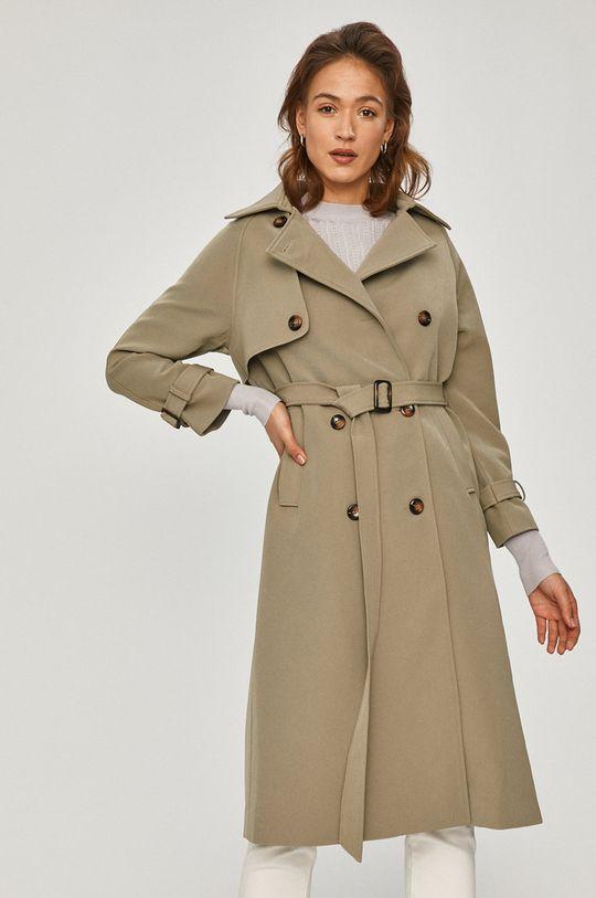 zelená Answear Lab - Trench kabát