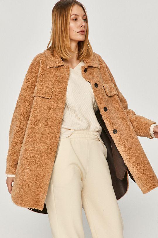 zlatohnědá Answear Lab - Kabát