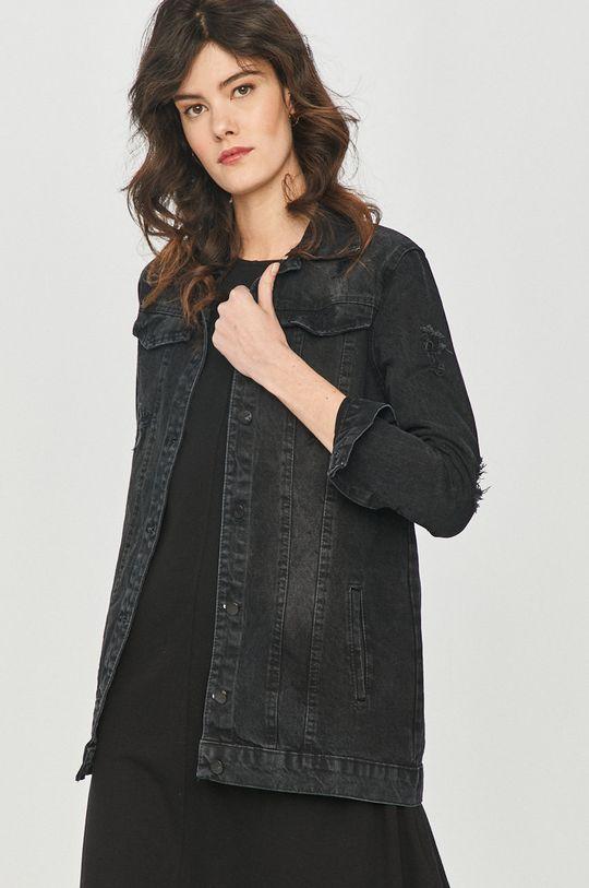 Answear Lab - Kurtka jeansowa czarny