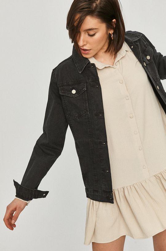 czarny Answear Lab - Kurtka jeansowa Damski