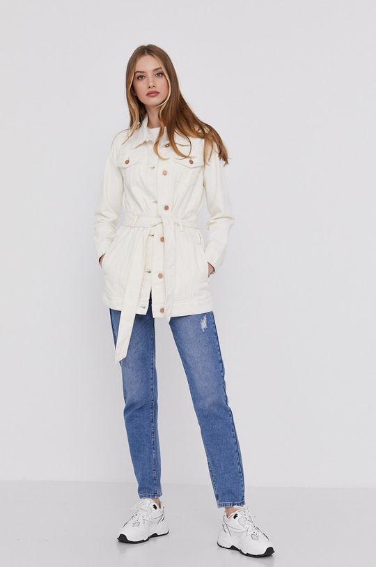 Answear Lab - Džínová bunda smetanová