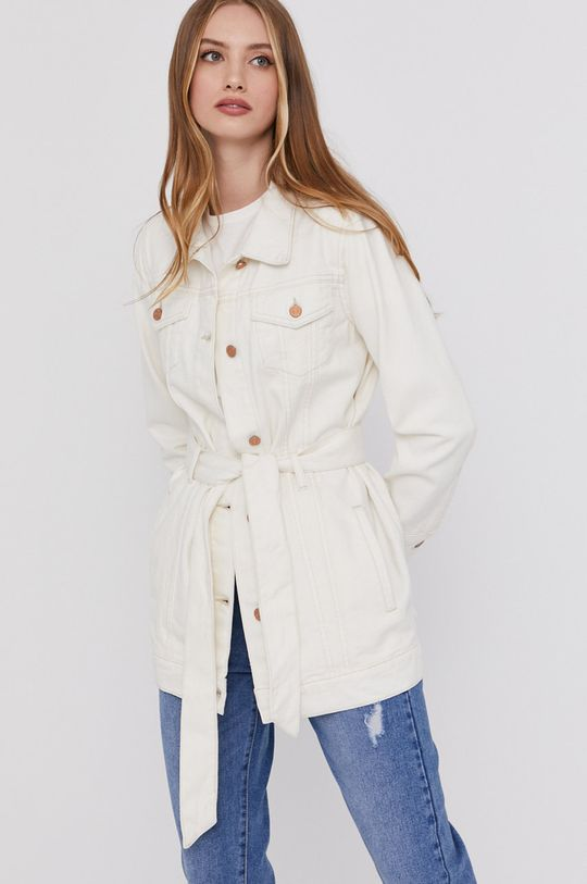 smetanová Answear Lab - Džínová bunda