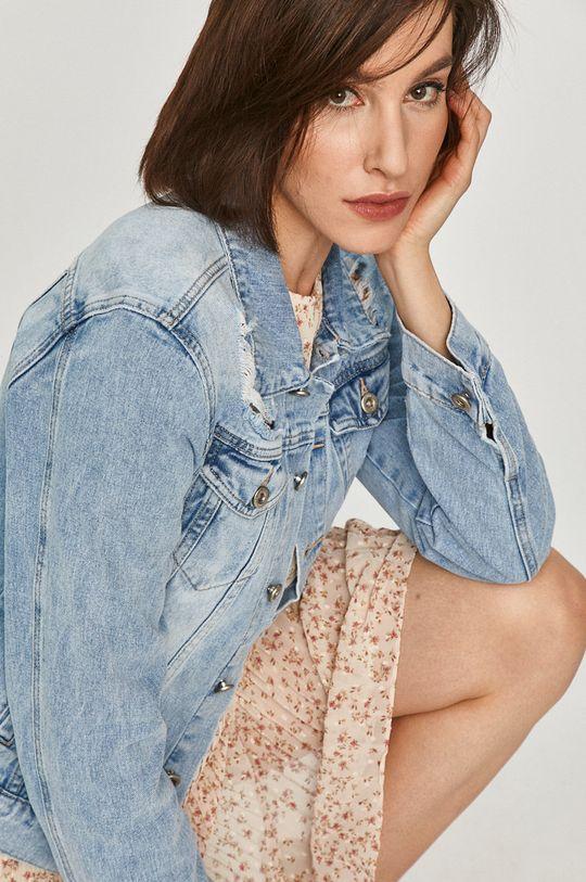 niebieski Answear Lab - Kurtka jeansowa Damski