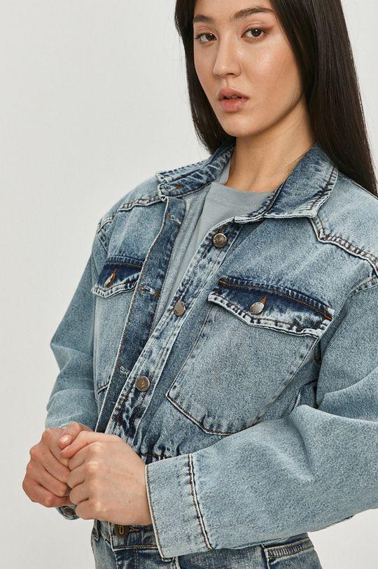 modrá Answear Lab - Džínová bunda