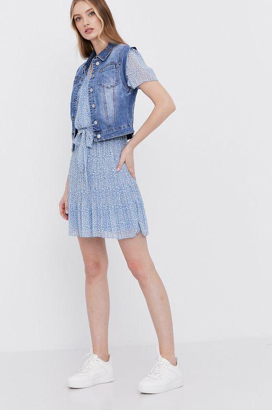 Answear Lab - Bezrękawnik jeansowy niebieski