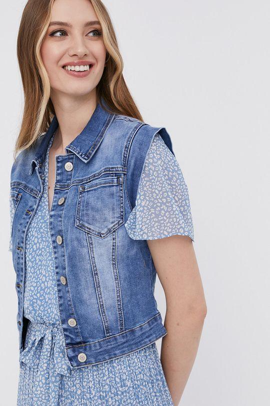 niebieski Answear Lab - Bezrękawnik jeansowy
