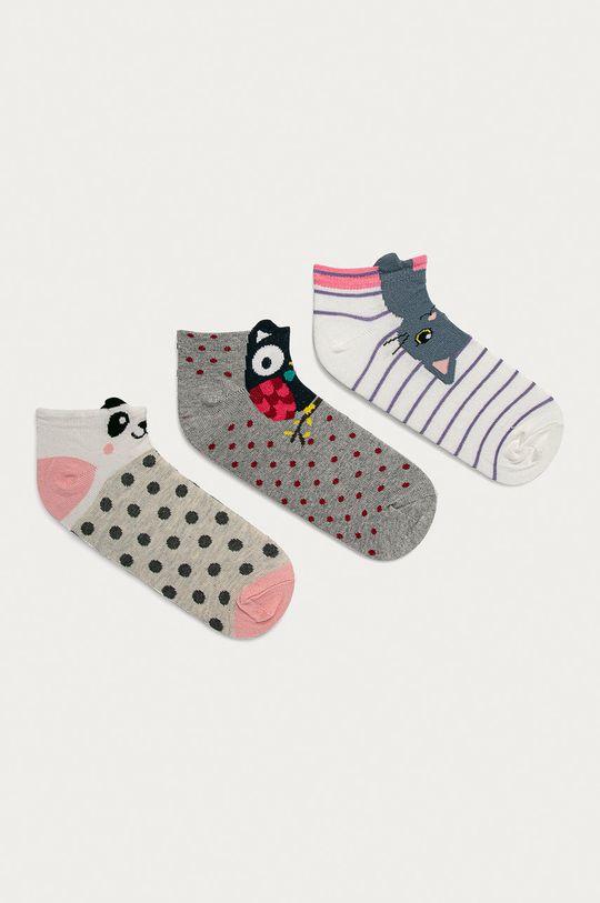 Answear Lab - Ponožky (3-pak) viacfarebná