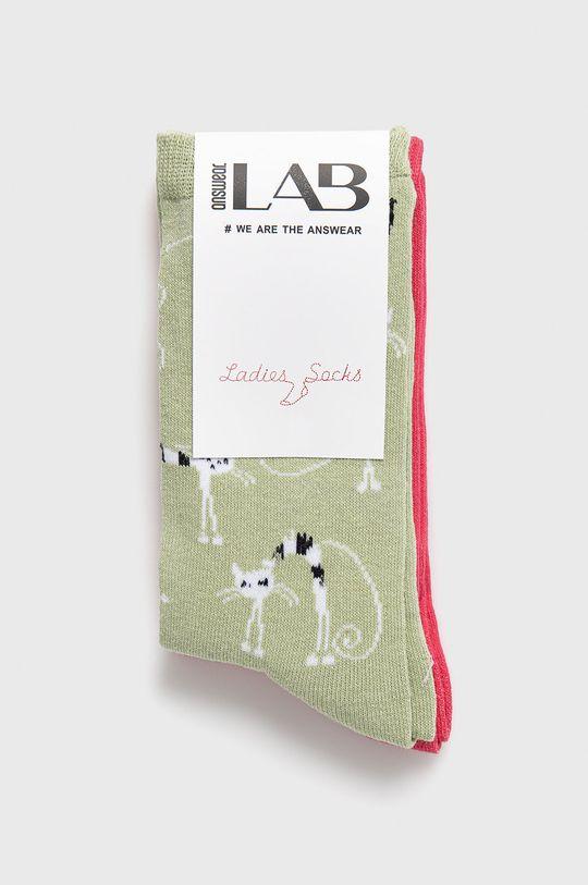 Answear Lab - Skarpetki (2-pack) 95 % Bawełna, 5 % Elastan