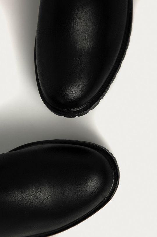 černá Answear Lab - Nízké kozačky Erynn