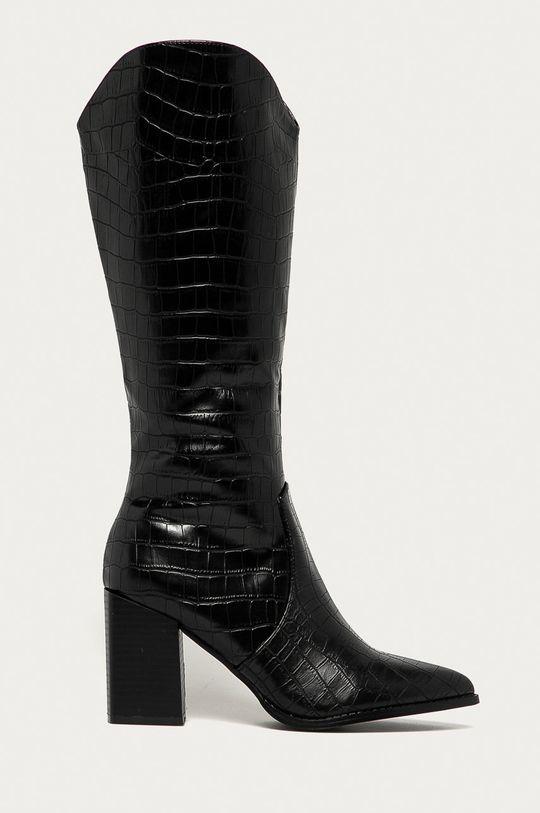 černá Answear Lab - Westernové boty Bellucci Dámský