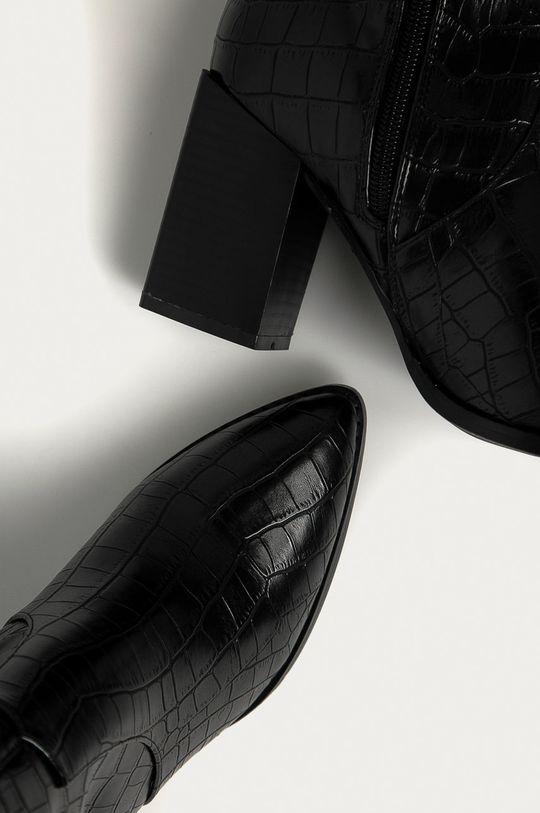 černá Answear Lab - Westernové boty Bellucci