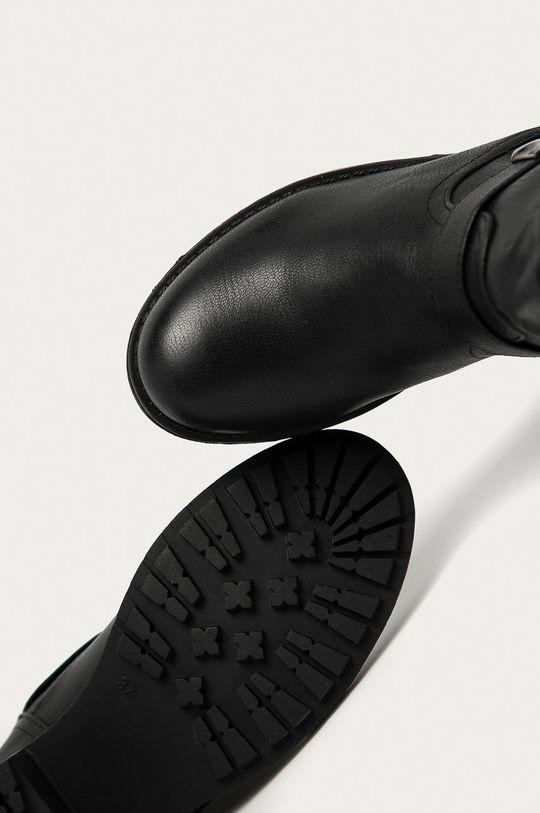 černá Answear Lab - Nízké kozačky La Bottine