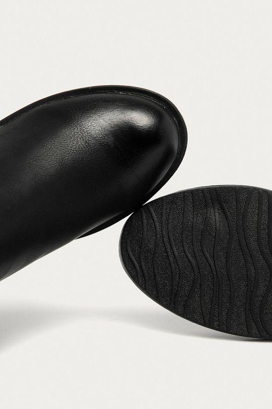 černá Answear Lab - Boty s gumou R&B