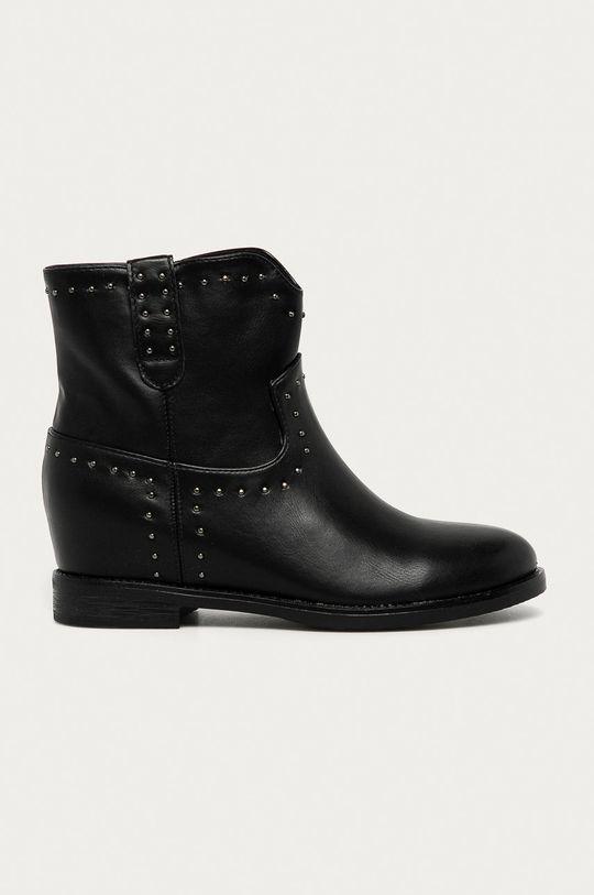čierna Answear Lab - Členkové topánky Girlhood Dámsky