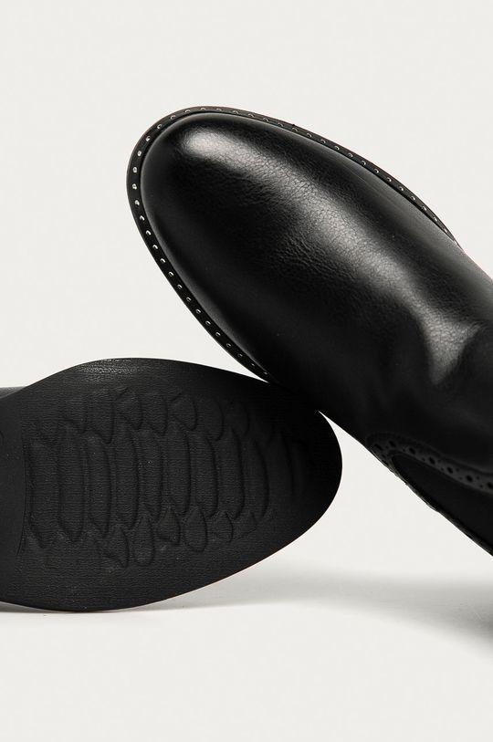 černá Answear Lab - Boty s gumou Weide