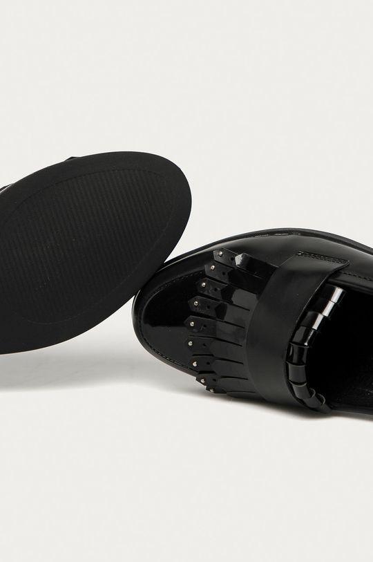 černá Answear Lab - Mokasíny Weide