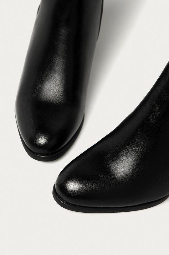černá Answear Lab - Boty s gumou
