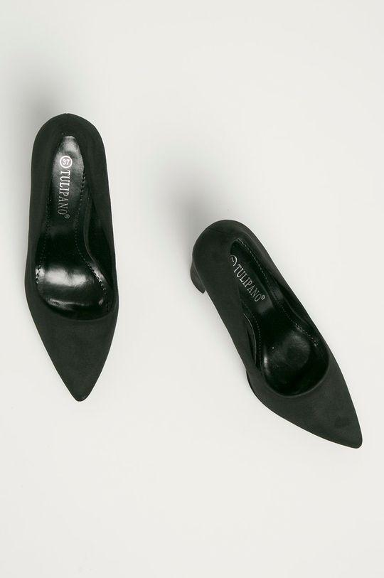 černá Answear Lab - Lodičky Tulipano