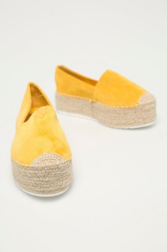 Answear Lab - Espadrilky IdeaShoes žlutá
