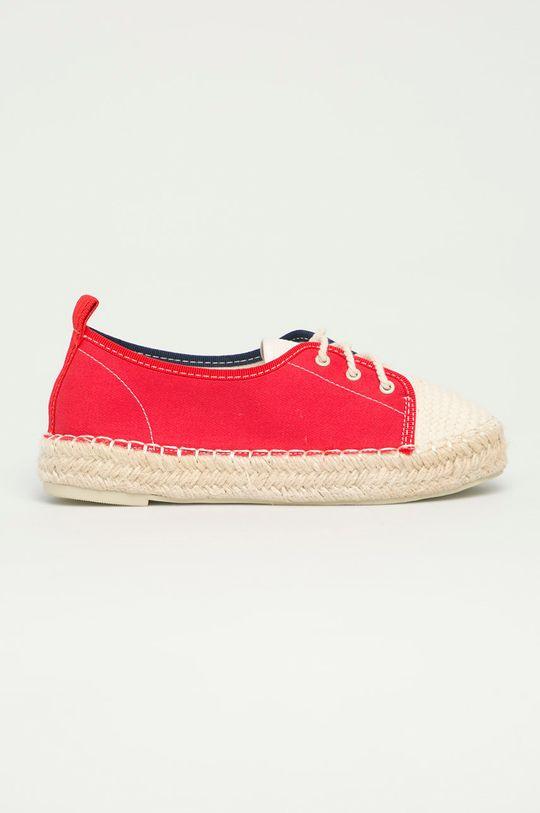 czerwony Answear Lab - Espadryle Damski