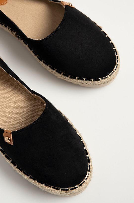černá Answear Lab - Espadrilky Best Shoes