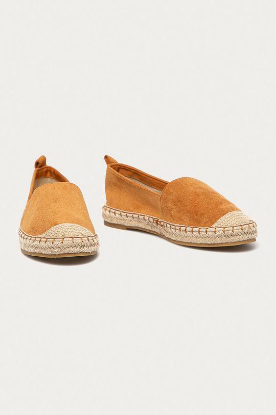 Answear Lab - Espadrilky Best Shoes zlatohnědá