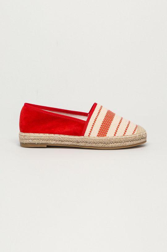 czerwony Answear Lab - Espadryle Best Shoes Damski
