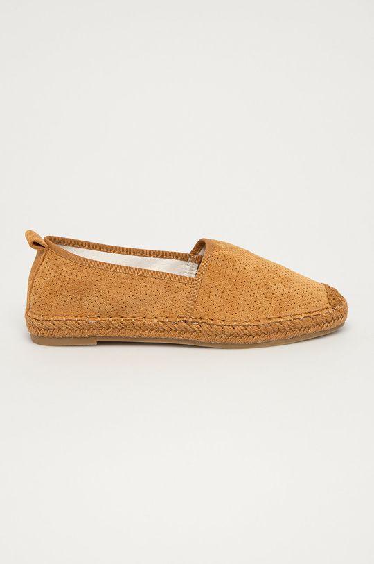 złoty brąz Answear Lab - Espadryle Best Shoes Damski