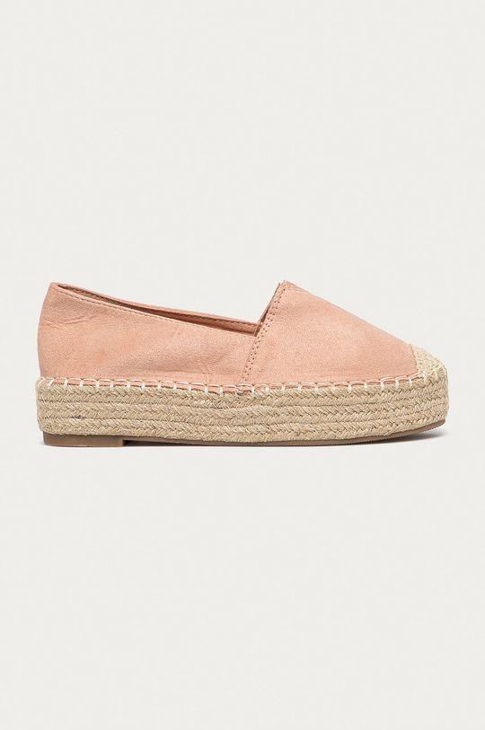 pastelová ružová Answear Lab - Espadrilky Best Shoes Dámsky