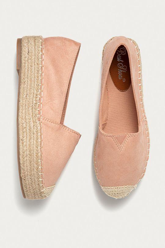 pastelová ružová Answear Lab - Espadrilky Best Shoes