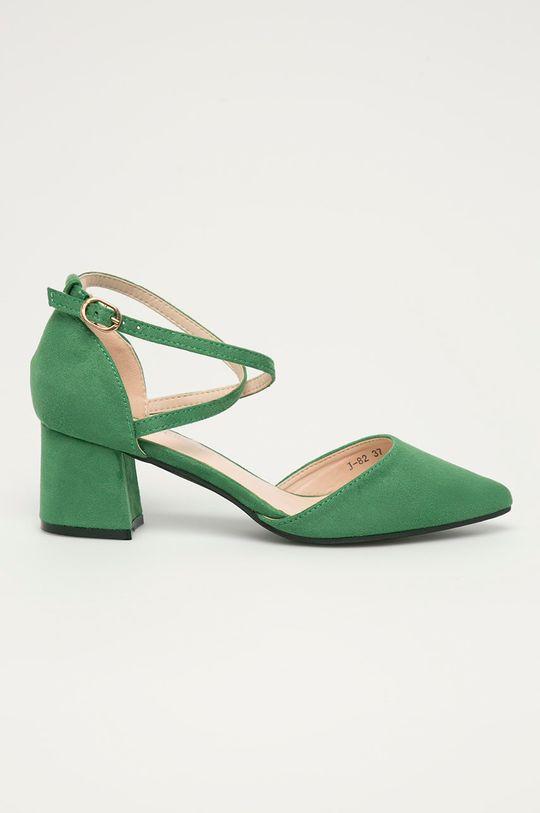 zielony Answear Lab - Czółenka Colour Cherie Damski