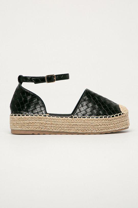 čierna Answear Lab - Espadrilky Ideal Shoes Dámsky