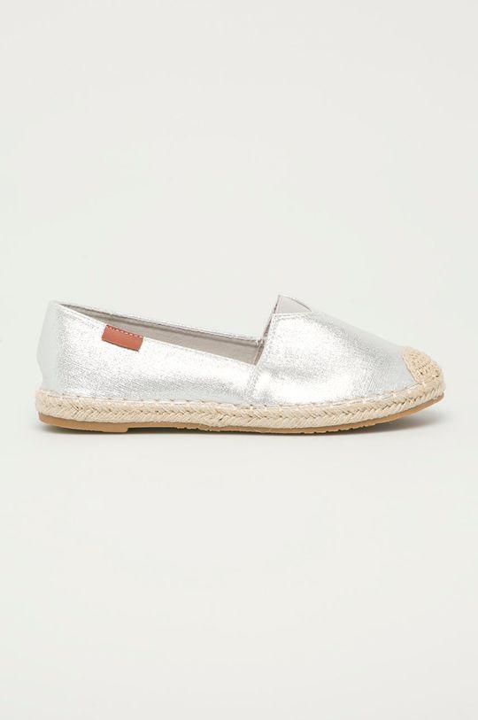 stříbrná Answear Lab - Espadrilky Moda Plus Dámský