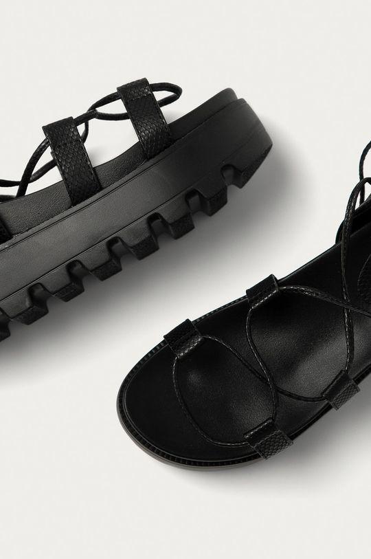 černá Answear Lab - Sandály Moda Plus