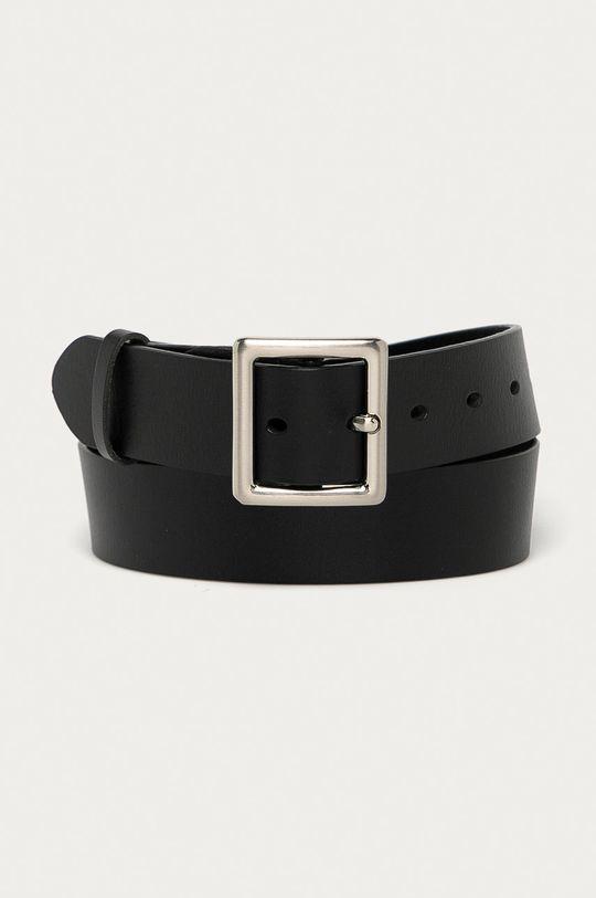 černá Answear Lab - Kožený pásek Dámský