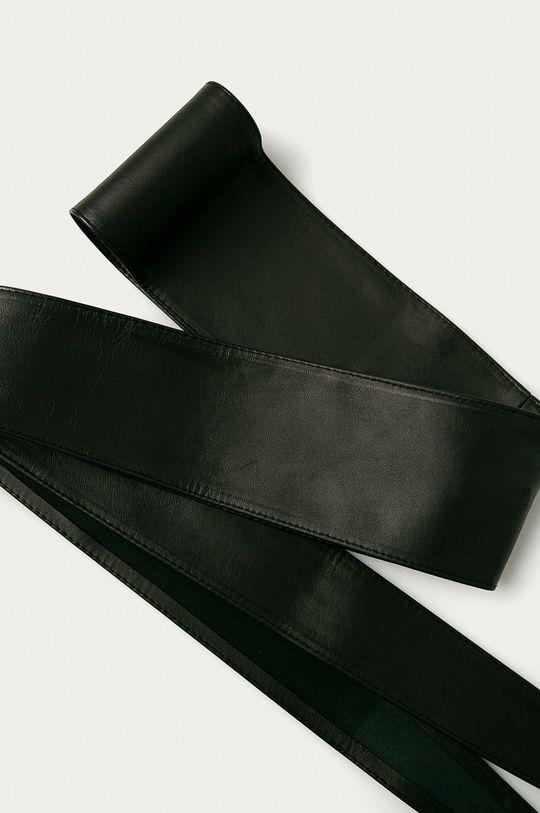 čierna Answear Lab - Kožený opasok Dámsky