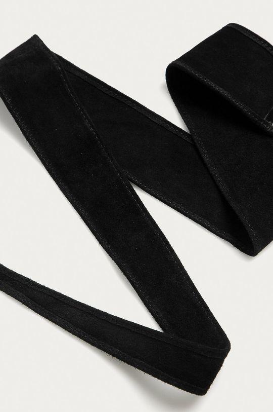czarny Answear Lab - Pasek skórzany Damski