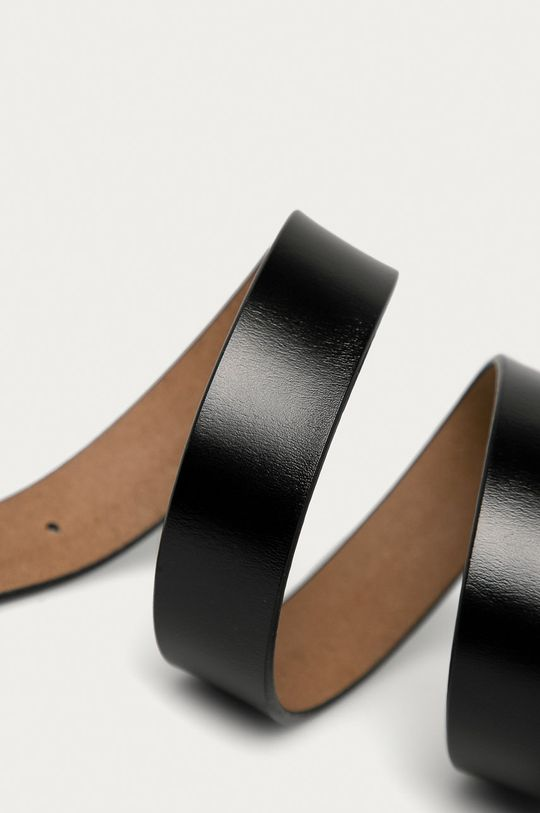 Answear - Kožený opasok čierna