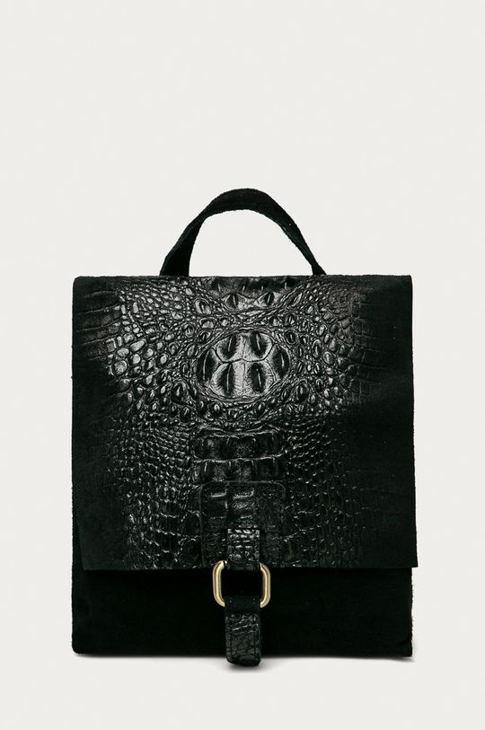 czarny Answear Lab - Plecak skórzany Damski