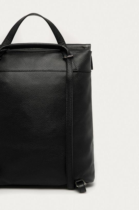 černá Answear Lab - Kožený batoh