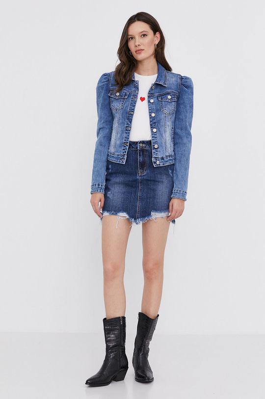 niebieski Answear Lab - Spódnica jeansowa