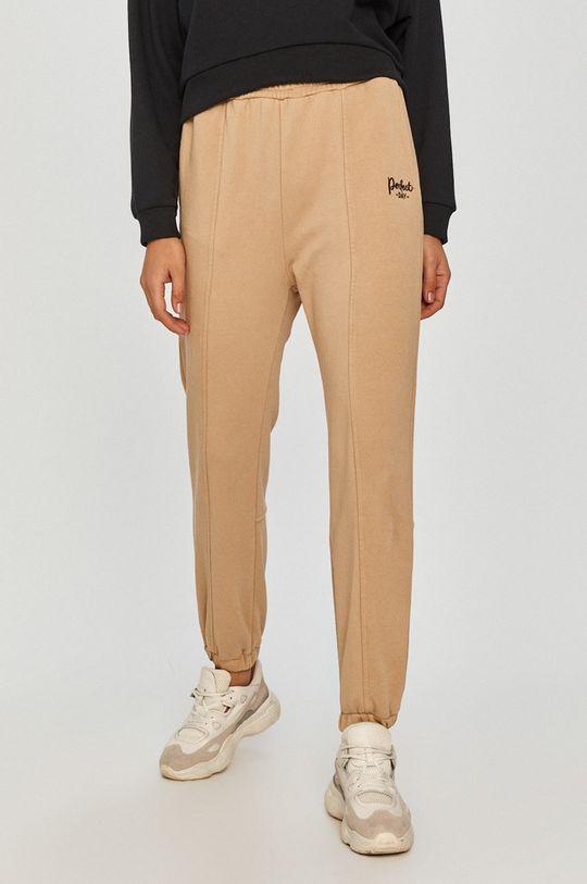 béžová Answear Lab - Kalhoty Dámský