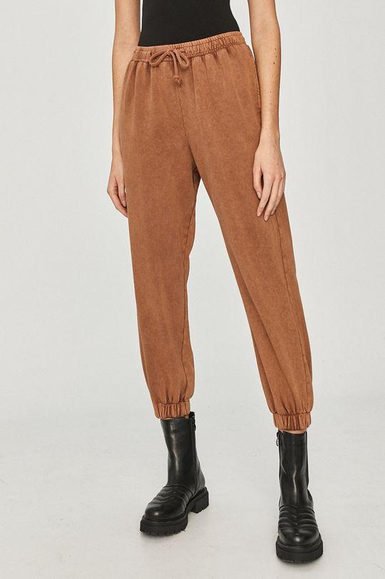 Answear Lab - Kalhoty hnědá