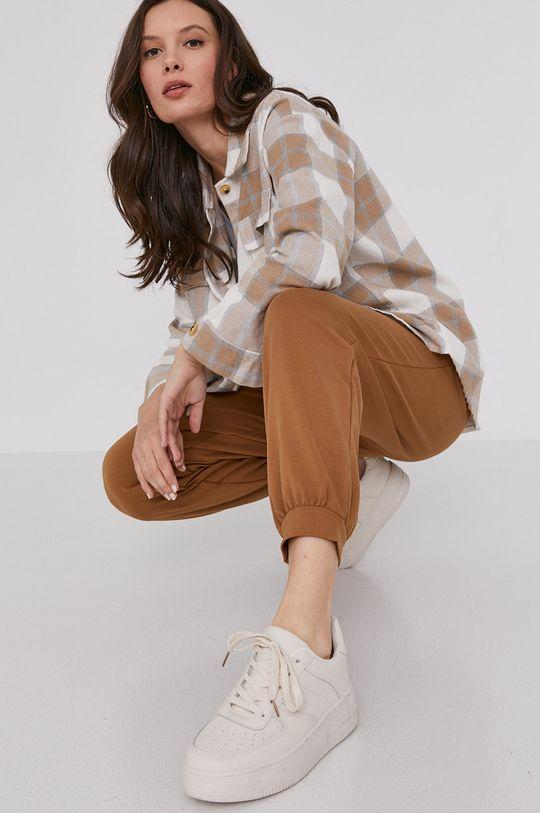 Answear Lab - Spodnie złoty brąz